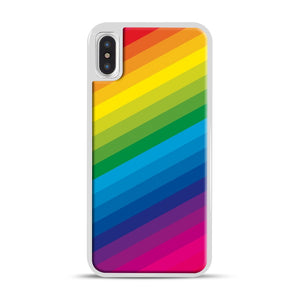 Rainbow iPhone X/XS Case, White Rubber Case | Webluence.com