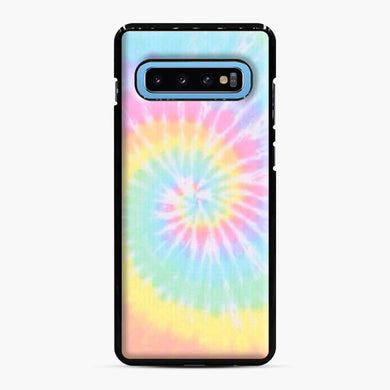 Rainbow tie dye Samsung Galaxy S10 Case, Black Plastic Case | Webluence.com
