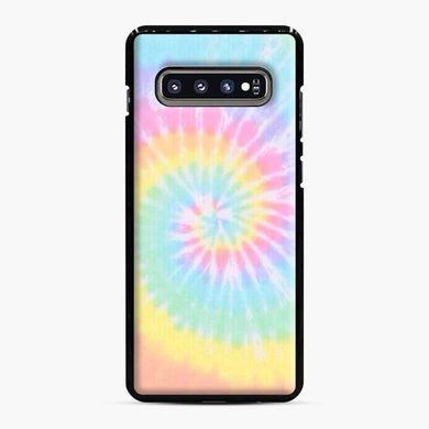 Rainbow tie dye Samsung Galaxy S10 Plus Case, Black Plastic Case | Webluence.com
