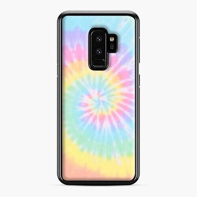 Rainbow tie dye Samsung Galaxy S9 Plus Case, Black Plastic Case | Webluence.com