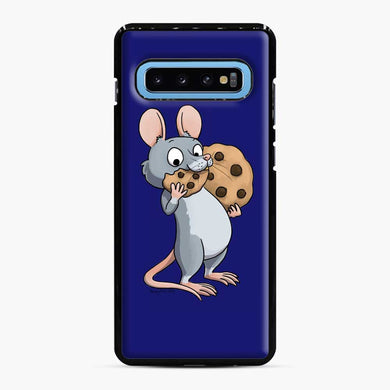Rat Cookie Midnight Blue Samsung Galaxy S10 Case, Black Plastic Case | Webluence.com