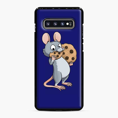 Rat Cookie Midnight Blue Samsung Galaxy S10 Plus Case, Black Plastic Case | Webluence.com