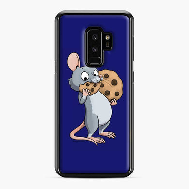 Rat Cookie Midnight Blue Samsung Galaxy S9 Plus Case, Black Plastic Case | Webluence.com