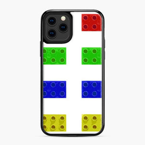Red Green Yellow And Blue Lego iPhone 11 Pro Case, Black Plastic Case