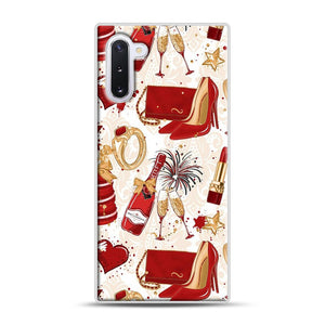Red Is Love 1 Samsung Galaxy Note 10 Case, White Plastic Case | Webluence.com