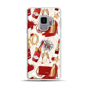 Red Is Love 1 Samsung Galaxy S9 Case, White Rubber Case | Webluence.com