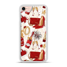 Load image into Gallery viewer, Red Is Love 1 iPhone 7/8 Case.jpg, White Plastic Case | Webluence.com