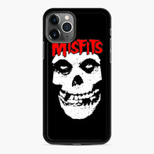 Load image into Gallery viewer, Red Skull Logo iPhone 11 Pro Case, Black Rubber Case | Webluence.com