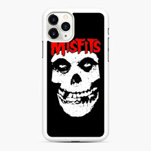 Load image into Gallery viewer, Red Skull Logo iPhone 11 Pro Case, White Rubber Case | Webluence.com