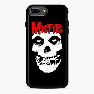 Red Skull Logo iPhone 7,8 Plus Case, Black Rubber Case | Webluence.com