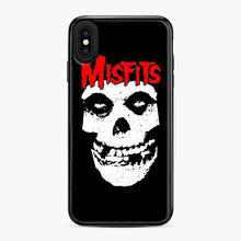 Load image into Gallery viewer, Red Skull Logo iPhone XS Max Case, Black Plastic Case | Webluence.com