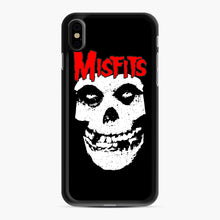 Load image into Gallery viewer, Red Skull Logo iPhone XS Max Case, Black Rubber Case | Webluence.com