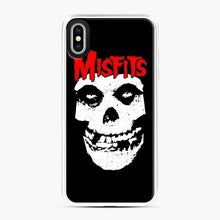 Load image into Gallery viewer, Red Skull Logo iPhone XS Max Case, White Plastic Case | Webluence.com