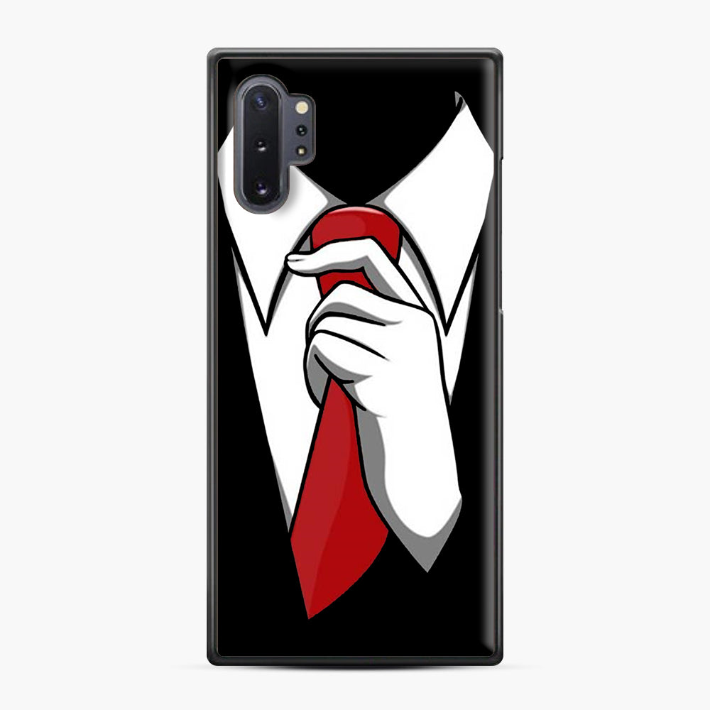 Red Tie Tuxedo Samsung Galaxy Note 10 Plus Case, Black Plastic Case | Webluence.com