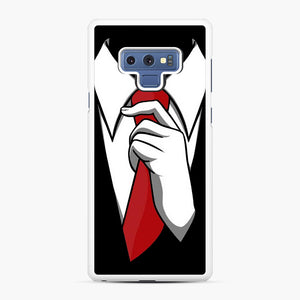 Red Tie Tuxedo Samsung Galaxy Note 9 Case, White Rubber Case | Webluence.com