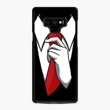 Load image into Gallery viewer, Red Tie Tuxedo Samsung Galaxy Note 9 Case, Black Rubber Case | Webluence.com
