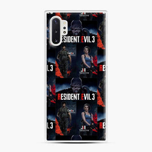 Resident Evil 3 Remake 3 Figure Samsung Galaxy Note 10 Plus Case, White Plastic Case