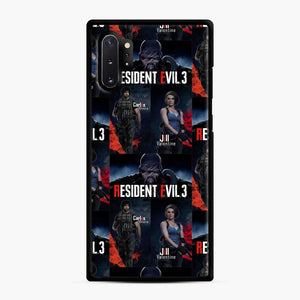 Resident Evil 3 Remake 3 Figure Samsung Galaxy Note 10 Plus Case, Black Rubber Case