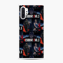 Load image into Gallery viewer, Resident Evil 3 Remake 3 Figure Samsung Galaxy Note 10 Plus Case, White Rubber Case
