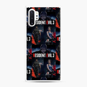 Resident Evil 3 Remake 3 Figure Samsung Galaxy Note 10 Plus Case, White Rubber Case