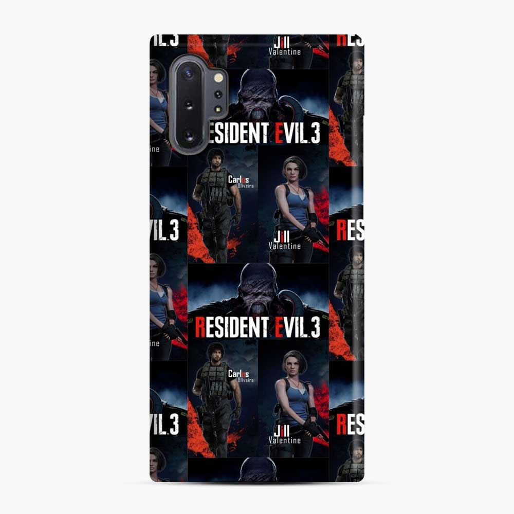 Resident Evil 3 Remake 3 Figure Samsung Galaxy Note 10 Plus Case, Snap Case