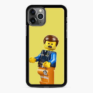 Rough Times B O I Lego iPhone 11 Pro Case, Black Rubber Case