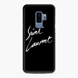 Saint Laurent Signature Samsung Galaxy S9 Plus Case, Black Rubber Case | Webluence.com