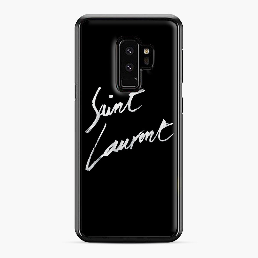 Saint Laurent Signature Samsung Galaxy S9 Plus Case, Black Plastic Case | Webluence.com
