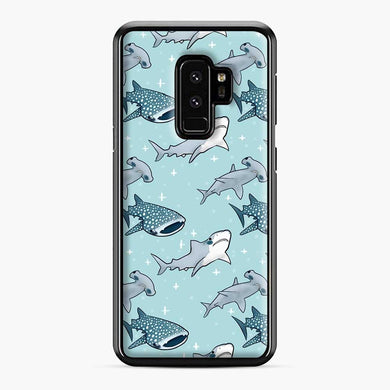 Shark Pattern Samsung Galaxy S9 Plus Case, Black Plastic Case | Webluence.com