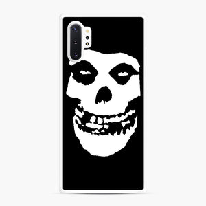 Skull Logo Samsung Galaxy Note 10 Plus Case, White Rubber Case | Webluence.com
