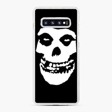 Load image into Gallery viewer, Skull Logo Samsung Galaxy S10 Plus Case, White Plastic Case | Webluence.com