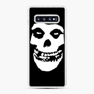 Skull Logo Samsung Galaxy S10 Plus Case, White Plastic Case | Webluence.com