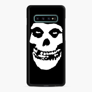 Skull Logo Samsung Galaxy S10 Plus Case, Black Rubber Case | Webluence.com