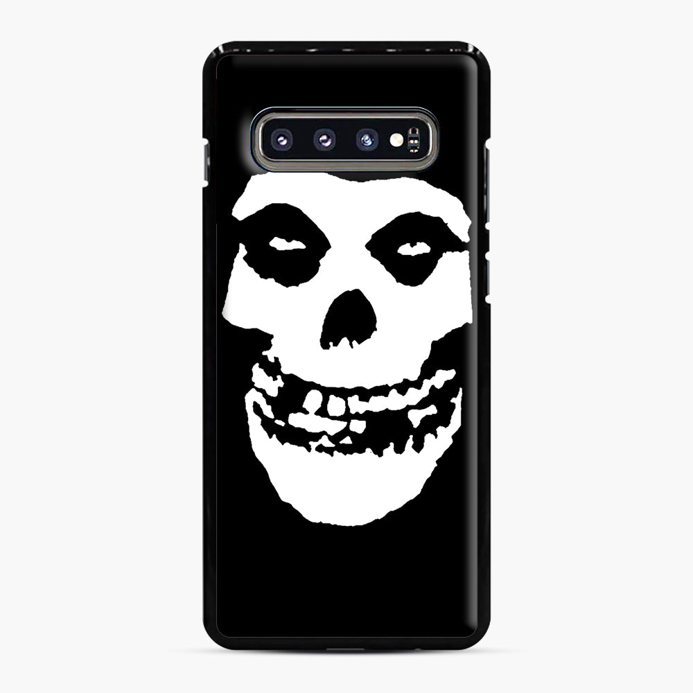 Skull Logo Samsung Galaxy S10 Plus Case, Black Plastic Case | Webluence.com