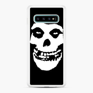 Skull Logo Samsung Galaxy S10 Plus Case, White Rubber Case | Webluence.com