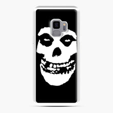 Load image into Gallery viewer, Skull Logo Samsung Galaxy S9 Case, White Plastic Case | Webluence.com