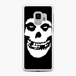 Skull Logo Samsung Galaxy S9 Case, White Rubber Case | Webluence.com