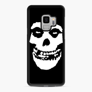 Skull Logo Samsung Galaxy S9 Case, Black Rubber Case | Webluence.com