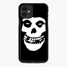 Load image into Gallery viewer, Skull Logo iPhone 11 Case, Black Rubber Case | Webluence.com