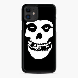 Skull Logo iPhone 11 Case, Black Rubber Case | Webluence.com