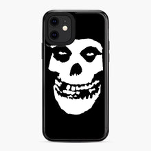 Load image into Gallery viewer, Skull Logo iPhone 11 Case, Black Plastic Case | Webluence.com