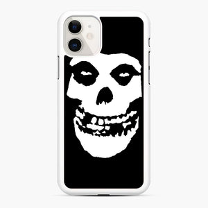 Skull Logo iPhone 11 Case, White Rubber Case | Webluence.com