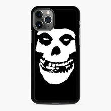 Load image into Gallery viewer, Skull Logo iPhone 11 Pro Case, Black Rubber Case | Webluence.com