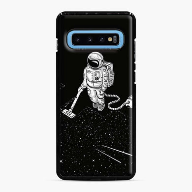 Space Cleaner Samsung Galaxy S10 Case, Black Plastic Case | Webluence.com