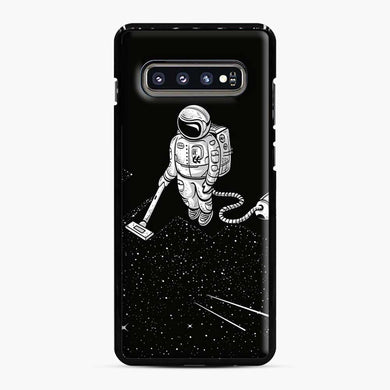 Space Cleaner Samsung Galaxy S10 Plus Case, Black Plastic Case | Webluence.com