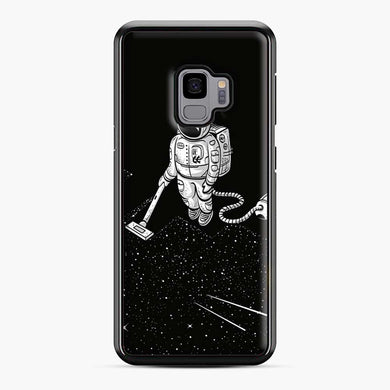 Space Cleaner Samsung Galaxy S9 Case, Black Plastic Case | Webluence.com