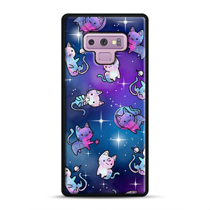 Space Kitties 1 Samsung Galaxy Note 9 Case, Black Rubber Case | Webluence.com