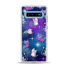 Load image into Gallery viewer, Space Kitties 1 Samsung Galaxy S10 Plus Case, White Rubber Case | Webluence.com