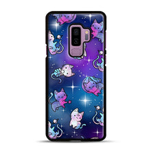 Load image into Gallery viewer, Space Kitties 1 Samsung Galaxy S9 Plus Case, Black Plastic Case | Webluence.com