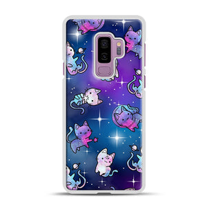 Space Kitties 1 Samsung Galaxy S9 Plus Case, White Rubber Case | Webluence.com
